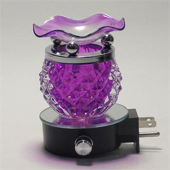 Glass Plug-In Night Light Oil Warmer